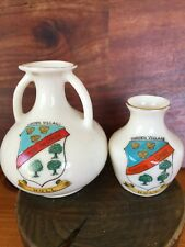 More details for antique crested china/ware-garden village-hull-waterfall vase-excellent cond