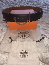 Hermes WOMEN'S Nero 42 mm Kit cintura con fibbia in oro