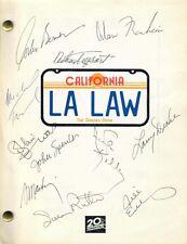 LA LAW (1986 SCRIPT) SIGNED AUTOGRAPHS