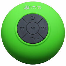 Green Bluetooth Waterproof Shower Speaker Car Works w/ Android Phones & Tablets