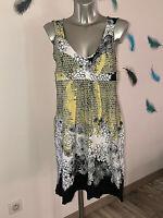 robe imprimée coton stretch MC PLANETE taille 42 fr usa 10 NEUVE ÉTIQUETTE