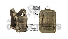 Mission Critical Tactical FRONT BABY CARRIER DAYPACK CARRIER Bundle COYOTE Tan