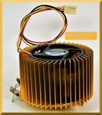 CYBER COOLER GOLD-COLORED CPU HEAT SINK WITH 9 CFM 12 VDC FAN - FACTORY NEW