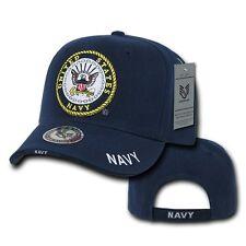 Blue United States US Navy Emblem Logo Military Baseball Ball Cap Hat Caps Hats