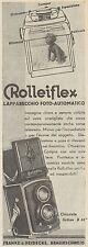 Z3090 Apparecchio Fotografico ROLLEIFLEX - Pubblicità - 1933 old advertising