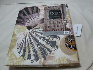 NEW Parker Hotel Collection BEACH LIFE Natural  Shower Curtain ~ Sea Shells NIP