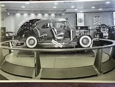 """12 By 18"""" Black & White PICTURE about 1950 Chevrolet cutaway display motorama"""