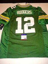 AARON RODGERS HAND SIGNED GREEN BAY PACKERS JERSEY FOOTBALL NFL PSA DNA CERT