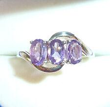 1.32ct Genuine Purple Amethyst Solid 925 Sterling Silver Ring US (8) AU (Q)