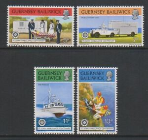 Guernsey - 1977, St John Ambulance set - m/m - SG 157/60