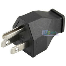 AC 125V 15A 3 Pin Male Power Cord Connector Black Japan US Plug Cable Connector