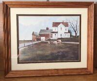 FARMHOUSE decor! Steve Zazenski Signed Framed Print..Stump and Wagon