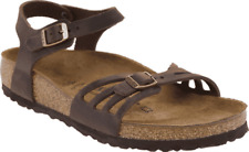 Women's Birkenstock Bali Ankle Strap Cork Sandal Habana Oiled Leather