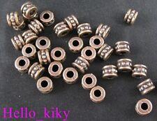 120Pcs  Antiqued copper plt barrel spacer beads A31