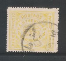 INDIA HYDERABAD STATE 1927, 1Re. YELLOW SG37 USED STAMP.