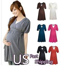 Women's Maternity Short Sleeve Slim  Party Cocktail Evening Mini Dress  #108