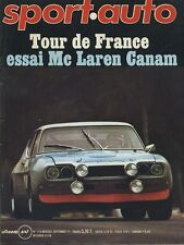 SPORT AUTO n°116 09/1971 GP BELGIQUE MAC LAREN M8E CANAM BMW CSL ENCART & POSTER