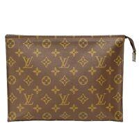 Louis Vuitton Poche Toilette 26 M47542 Monogram Pouch Clutch Second Bag Vintage