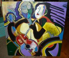 """Perry Coyle Signed Original Painting  """"Twisted Love # 1 """" 40"""" x 40"""" c.2002"""