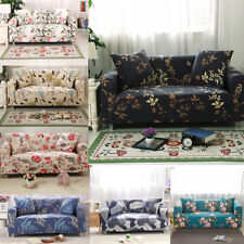 1/2/3/4 Flower Sofa Couch Slipcover Stretch Covers Lounge Settee Protector Fit