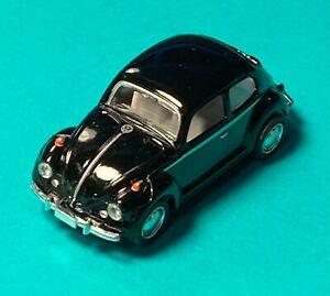 Kinsmart Miniature Black 1967 Volkswagen Classical Beetle Car DieCast 1:64 #345