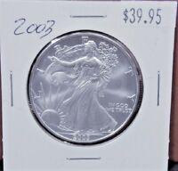 2003 Silver American Eagle BU 1 oz US $1 Dollar Brilliant Uncirculated U.S. Mint