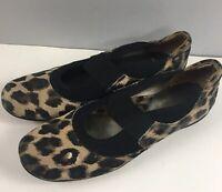 Sesto Meucci Slides Mary Janes 12 M Womens Animal Print Black Shoes