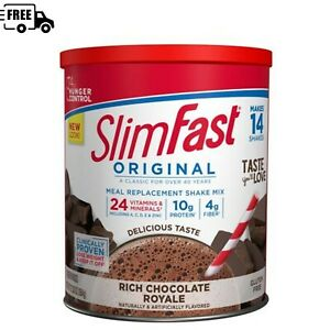 SlimFast Original Meal Replacement Shake Mix, Rich Chocolate Royale, 12.83 Oz.