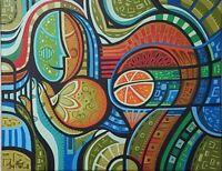 Javier Martinez Fruits 16X20 Acrylic Canvas Cuban Art Original Painting 2017