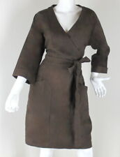 """*VINTAGE* BROWN DRESS CROSS OVER """"YALY COUTURE"""" SIZE (L)"""