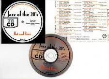 """JAZZ OF THE 20s """"Hot And Rare"""" (CD) 19 Titres 1994"""