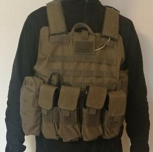 Plattenträger Plate carrier airsoft Taktische weste Tactical vest Molle oliv
