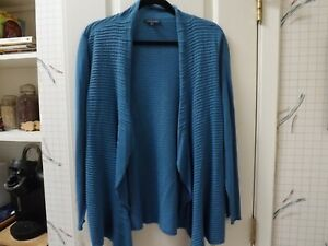 Eileen Fisher Cardigan in Blue---size PL