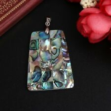 Trapezoid Shape Colorful Abalone Shell Jewelry Necklace Pendant Natural Beads