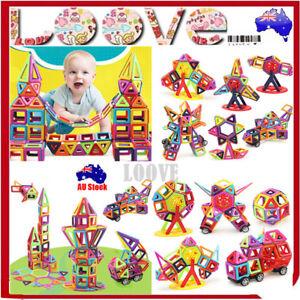 64/113/166 pcs Kids Magnetic Blocks Building Toys Magnet Gift Puzzle Educational