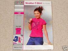 Neues Struktur-T-Shirt Größe 128 pink mit modischem Druckmotiv Mädchen Kinder
