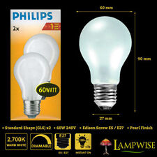 Philips Standard 60W with Dimmable Light Bulbs