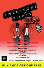 TWENTY ONE PILOTS 21 Pilots 2017  Australian  Laminated Tour Poster