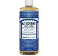 Dr. Bronner's Magic Pure-Castile Soap Value 40 Ounce Bottle 18-in-1 Hemp Pepp...