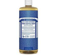 Dr. Bronner's Magic Pure-Castile Soap Value 40 Ounce Bottle 18-in-1 Hemp Pepp.