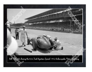 Historic Bill Vukovich, in the #26 Fuel Injection Special 1952 Indy Postcard