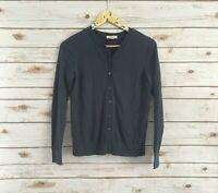 Ann Taylor LOFT Women's Blue Long Sleeve Button Front Cardigan Sweater Size Med