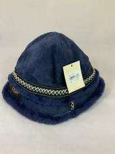 NWT UGG Australia Women's Blue Leather Bucket Hat 18376 ONE SIZE