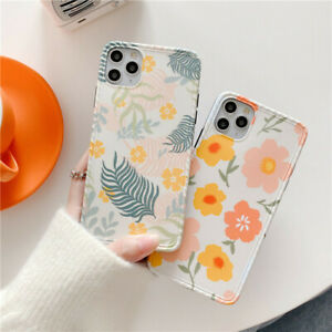 Fresh Tropical Flower Silicone Case Cover for iPhone 11 12 Pro Max 7 8 Plus X XR