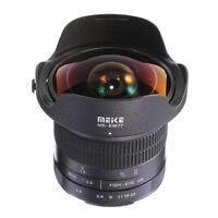 Meike 8mm F3.5 Wide Angle Fisheye Lens Optical For Sony E Mount NEX A5000 A6200