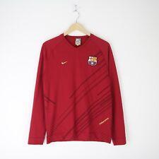 b1622e2100807 Mens Vintage Nike FC Barcelona Football Soccer LS Training Jersey Shirt M  FCB