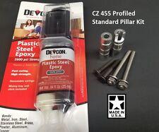 CZ 455 Profiled Pillar Stock Bedding DELUXE Kit w/ DEVCON and Upgraded Screws