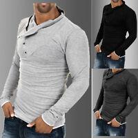 Men's Stylish Long Sleeve Tops Slim Fit Fashion T-Shirts Shirt Cotton Casual Tee