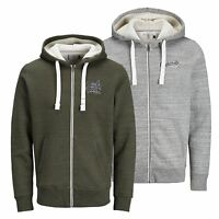 Mens Hoodie  JACK & JONES Original Sherpa Lined Hooded Zip Up Sweater