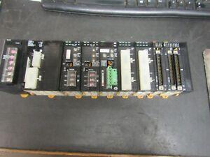 OMRON CJ1W-PA202 W/CPU CJ1G-CPU45H & 7 I/O CARDS (VERY NICE TAKE OUT)